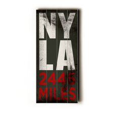 NY LA Transit Textual Art Plaque