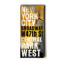 New York City Transit Wood Sign