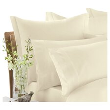 600 Thread Count Egyptian Blended Cotton Sateen Square Pillowcase