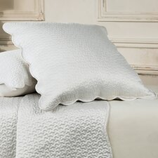 Floriane Square Pillowcase in Alabaster