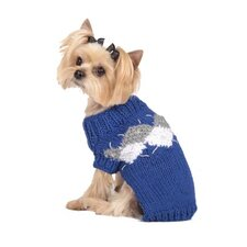 Modern Argyle Dog Sweater in Royal