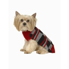 <strong>Max's Closet</strong> Color Block Dog Sweater in Red/Charcoal