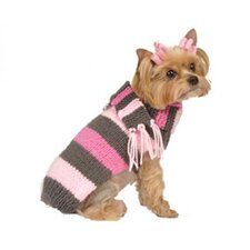 Bold Stripe Dog Sweater with Scarf