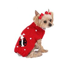 <strong>Max's Closet</strong> Bobble Lady Bug Dog Sweater