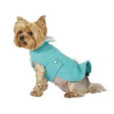Max's Closet Kick Pleat Dog Coat with Faux Fur Collar