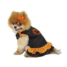 Ruffled Halloween Pumpkin Dog Dress