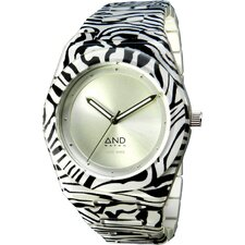 <strong>And Watch</strong> Aristotle Ladies Watch in White Circle Case