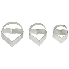 <strong>HAROLD IMPORT COMPANY</strong> Heart Cookie Cutter (Set of 3)