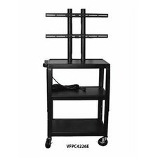 "27 - 32"" Flat Panel Cart with 4 Outlets - 26 - 42"" Adjustable Height"