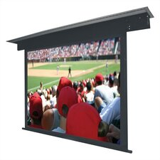 "Matte White Lectric II Motorized Screen 100"" diagonal Video Format 96"" x 128"" with Black Housing"
