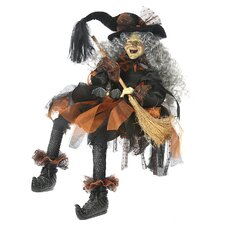 Sitting Witch Figurine