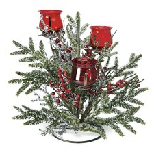 Berry and Ice Tree Candle Holder