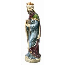King with Chest Statue Christmas Decoration
