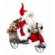 Santa on Tricycle Figurine