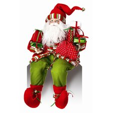 Sitting Santa with Presents Figurine