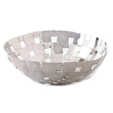 Signature Series Modern Silver Mosaic Bowl