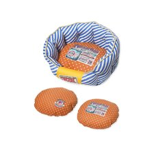 Stylish Dog Bed in Blue and Orange