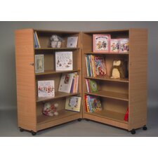 Hinged Bookcase with 4 Shelves