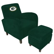 NFL Den Chair and Ottoman
