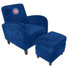 MLB Den Chair and Ottoman