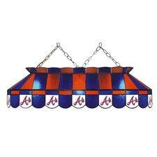 MLB Team Logo Rectangular Stained Glass Billiards Light
