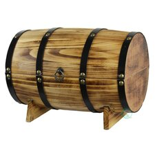 Wooden Wine Barrel Treasure Chest