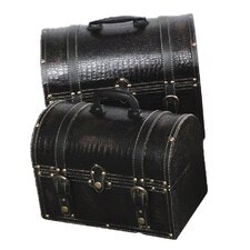 Leather Storage Trunk (2 Piece Set)