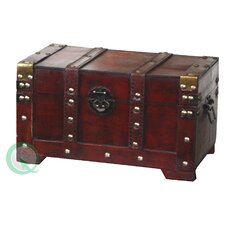 <strong>Quickway Imports</strong> Antique Style Wooden Small Trunk