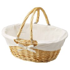 <strong>Quickway Imports</strong> Oval Willow Basket