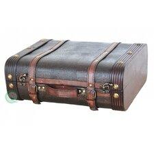 Wood Leather Suitcase