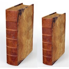 Vintage Book Box (Set of 2)