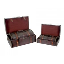 Cardinal Leather Trunk (Set of 4)