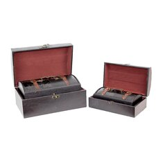 Royal Leather Trunk (Set of 4)