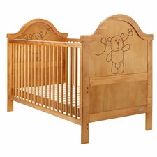 B is for Bear Convertible Cot Bed in Country Pine