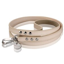 Natural LV Handmade Vegetable Leather Dog Leash in Natural