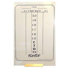 Dry Erase Darts Scoreboard