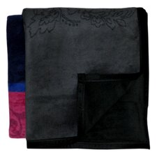 <strong>Bocasa Blankets</strong> Inspirations Brocade Woven Velvet Throw Blanket