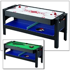 Triple Threat 3-IN-1 Flip Table & Accessories Table Tennis Table