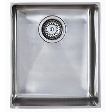 Onyx 1.5 Bowl Inset Sink in Brushed Steel
