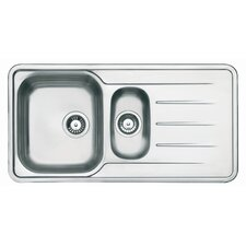 Topaz 1.5 Bowl Inset Sink and Drainer in Stainless Steel