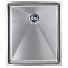 Onyx Single Bowl Undermount Sink in Stainless Steel