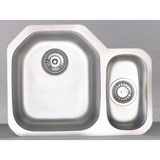 Echo 1.5 Bowl Undermount Sink in Stainless Steel