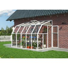 "Sunroom 2 8' 1"" H x 6' 6"" W x 12' 8"" D Polycarbonate 4 mm Lean-To Greenhouse"