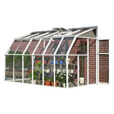 "Sunroom 2 8' 1"" H x 6' 6"" W x 14' 8"" D Polycarbonate 4 mm Lean-To Greenhouse"