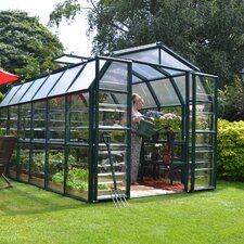 "Grand Gardener 2 Clear 7' 9"" H x 8' 9"" W x 12' 9"" D Polycarbonate 4 mm Greenhouse"