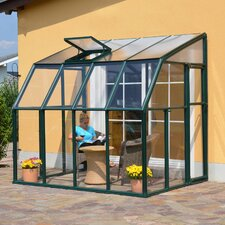 "Sun Lounge 2 8' 1"" H x 6' 6"" W x 8' 8"" D Polycarbonate 4 mm Lean-To Greenhouse"