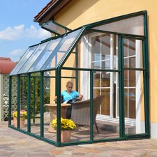 "Sun Lounge 2 8' 1"" H x 6' 6"" W x 6' 6"" D Polycarbonate 4 mm Lean-To Greenhouse"