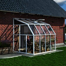 "Sunroom 2 8' 1"" H x 6' 6"" W x 8' 8"" D Polycarbonate 4 mm Lean-To Greenhouse"