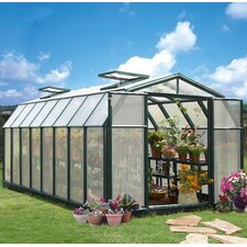 "Hobby Gardener 2 Twin Wall 6' 9"" H x 8' 8"" W x 16' 11"" D Polycarbonate 4 mm Greenhouse"