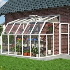 "Sunroom 2 8' 1"" H x 6' 6"" W x 10' 3"" D Polycarbonate 4 mm Lean-To Greenhouse"